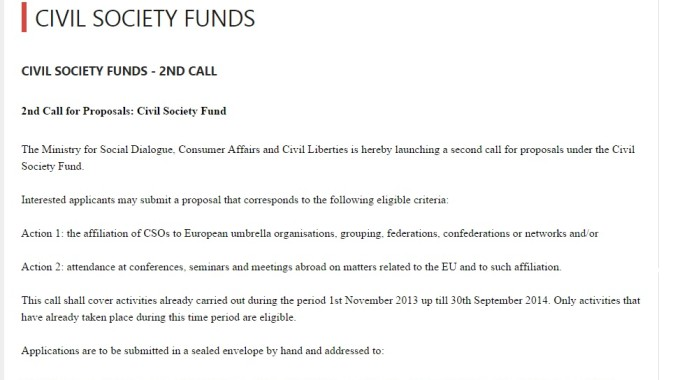 MSDC Funds – Civil Society Funds 2nd Call
