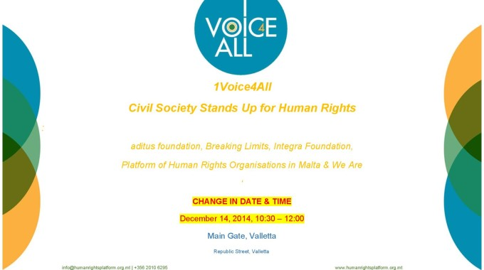 1Voice4All – Change In Date & Time