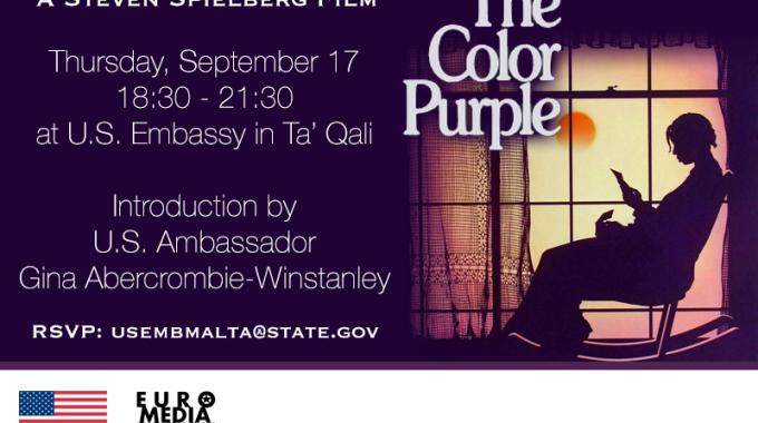 "U.S. Embassy Screening: ""The Color Purple"""